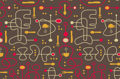 Coolio Kitchen x4/c fabric by karencraig on Spoonflower - custom fabric