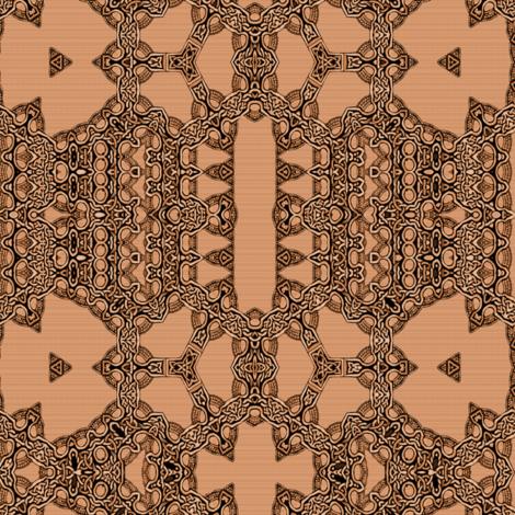 Lindisfarne Copper Plait fabric by wren_leyland on Spoonflower - custom fabric