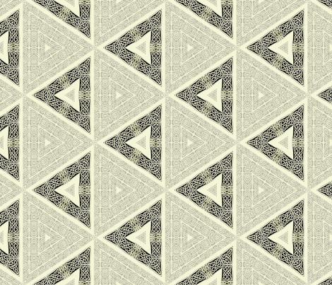 Lindisfarne Gray Triangles fabric by wren_leyland on Spoonflower - custom fabric
