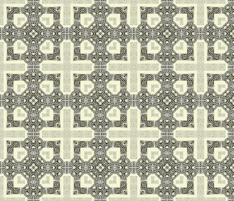 Lindisfarne Cross - Orthodox fabric by wren_leyland on Spoonflower - custom fabric