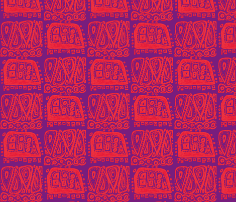 hovering above purple & red fabric by kcs on Spoonflower - custom fabric