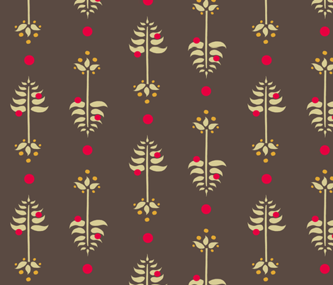 Tree Berry Root -Retro fabric by leahvanlutz on Spoonflower - custom fabric
