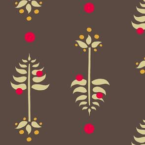 Tree Berry Root -Retro