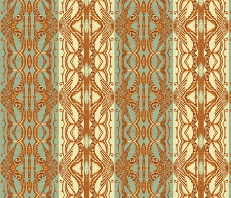 Copper Sage Deco fabric by wren_leyland on Spoonflower - custom fabric