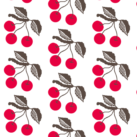 Retro cherries  fabric by paragonstudios on Spoonflower - custom fabric