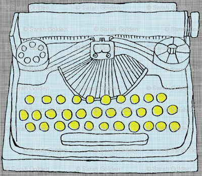 Typewriter Light Blue