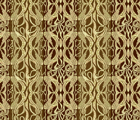 Chocolate Brown Beige fabric by wren_leyland on Spoonflower - custom fabric
