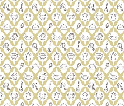 Retro Kitchen Fabric Pattyryboltdesigns Spoonflower