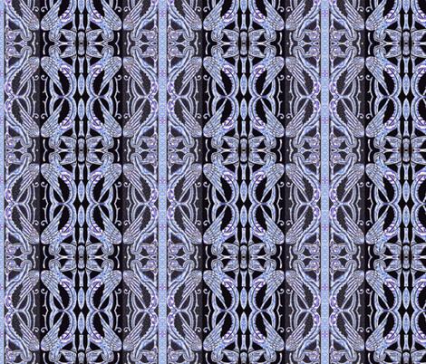 Dragon Wings in Blue fabric by wren_leyland on Spoonflower - custom fabric