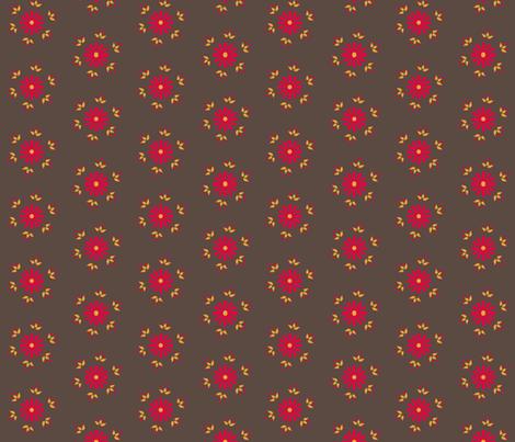 BerryFlower - Retro fabric by leahvanlutz on Spoonflower - custom fabric