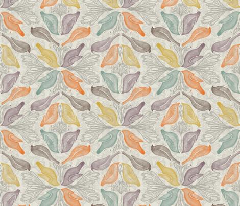 birds fabric by ariari on Spoonflower - custom fabric