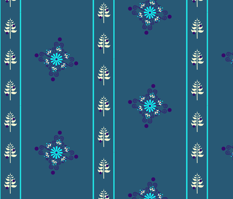 BerryFlowerStripe fabric by leahvanlutz on Spoonflower - custom fabric