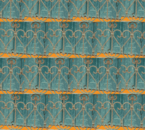 Crooked Fence, Trouville-en-Mer, France fabric by susaninparis on Spoonflower - custom fabric