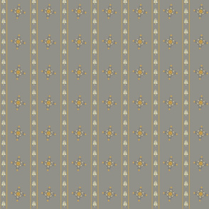 Berry Flower Stripe - Golden Gray