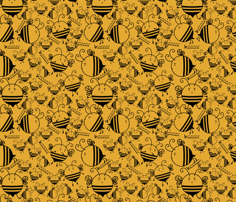 bzzzzzz fabric by suziwollman on Spoonflower - custom fabric