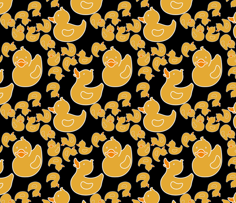 duckiesblack fabric by suziwollman on Spoonflower - custom fabric