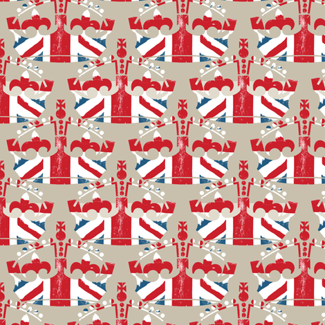 Diamond Jubilee 5 (beige) fabric by mgterry on Spoonflower - custom fabric