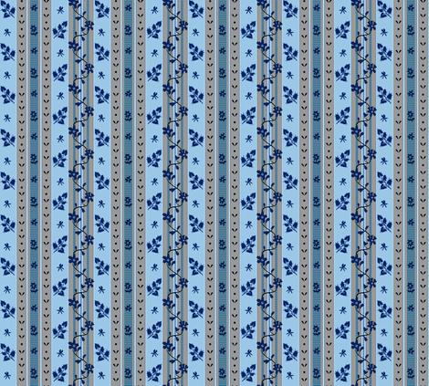 Fantine - Blue - Striped fabric by bonnie_phantasm on Spoonflower - custom fabric