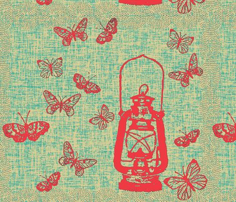 Red Lantern Bigger Repeat fabric by retrofiedshop on Spoonflower - custom fabric