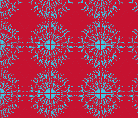 necklace with diamond-saturated red & blue fabric by kcs on Spoonflower - custom fabric