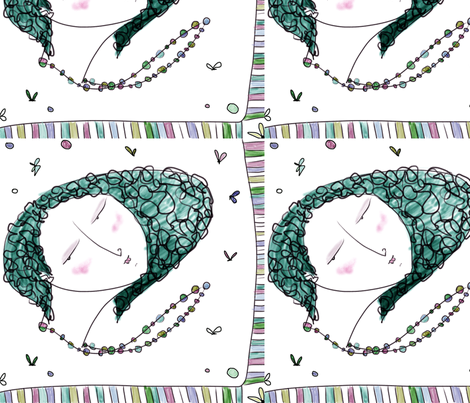 Proud Mama fabric by pinky_nika on Spoonflower - custom fabric