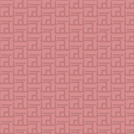 Apricot Geometric 2 © Gingezel™ 2012 fabric by gingezel on Spoonflower - custom fabric