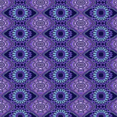 Midnight Sunflowers fabric by edsel2084 on Spoonflower - custom fabric