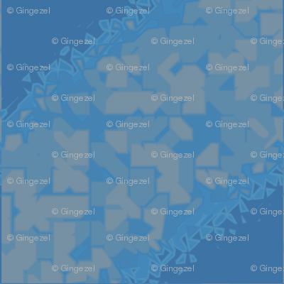 Blue and Beige Geometric © Gingezel™ 2012