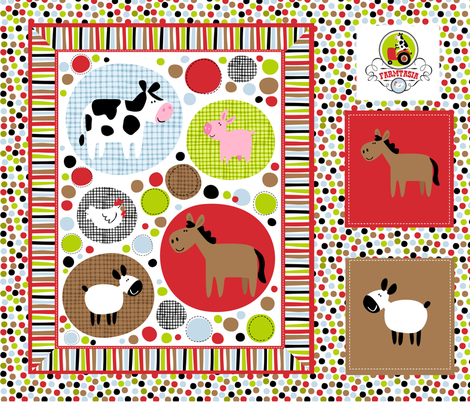 Farmtasia Quilt 2 fabric by bzbdesigner on Spoonflower - custom fabric
