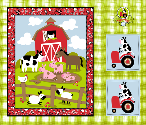 Farmtasia Quilt 1 fabric by bzbdesigner on Spoonflower - custom fabric