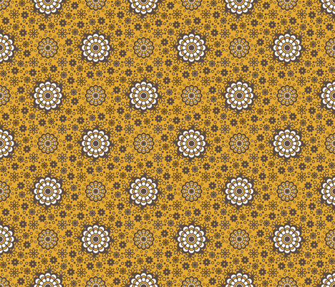 Retro Blooms fabric by robyriker on Spoonflower - custom fabric