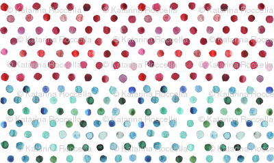 watercolor dots multi stripe
