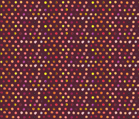 watercolor dots autumn on brown fabric by katarina on Spoonflower - custom fabric