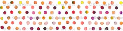 Indian summer watercolor dots
