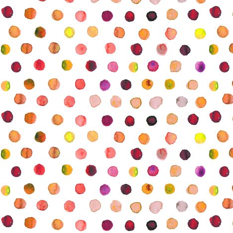 Indian summer watercolor dots  fabric by katarina on Spoonflower - custom fabric