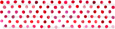 watercolor dots bright red