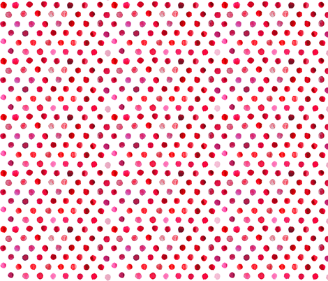 watercolor dots bright red fabric by katarina on Spoonflower - custom fabric
