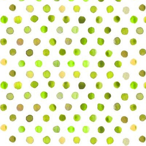 watercolor dots lime