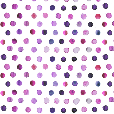 watercolor dots purple fabric by katarina on Spoonflower - custom fabric