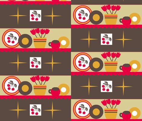 Cherry Kitschy /block fabric by paragonstudios on Spoonflower - custom fabric