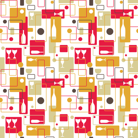 Time for wine fabric by ebygomm on Spoonflower - custom fabric