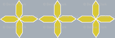 Star Flower in citron and ash