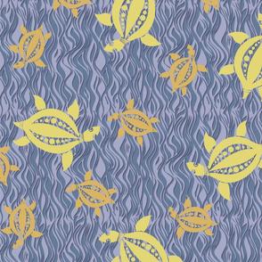 Turtle: mellow blue