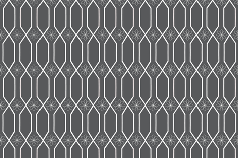 Trellis in slate fabric by bexcaliber on Spoonflower - custom fabric