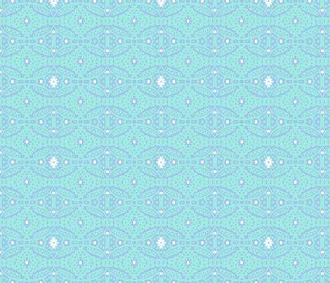 Dotty Ditsy Daisy Design (sky & aqua) fabric by pattyryboltdesigns on Spoonflower - custom fabric