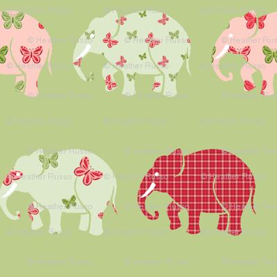Butterfly Elephant Herd