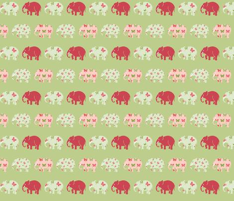 Butterfly Elephant Herd fabric by mandollyn on Spoonflower - custom fabric