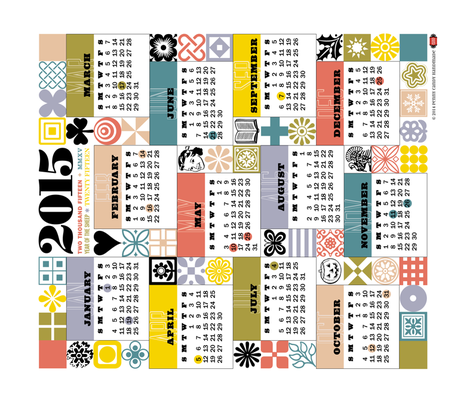 2015 Sewing for All Seasons Calendar fabric by pennycandy on Spoonflower - custom fabric
