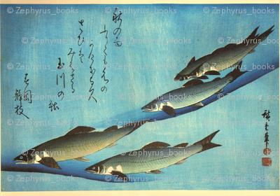 Ai (Trout) - Hiroshige's Colorful Japanese Fish Print