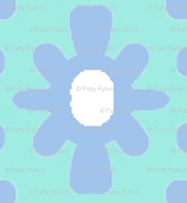 Dotty Ditsy Daisy (Sky & aqua)